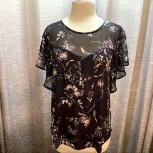 3/$25 Faith & Joy floral medium blouse NWOT